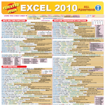 Excel 2010 Functions 1