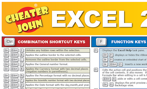 Excel 2010 Keyboard Shortcuts Detail