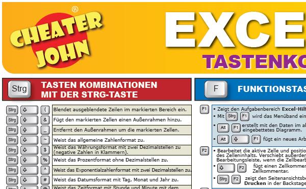 Excel 2010 Tastenkombinationen Detail