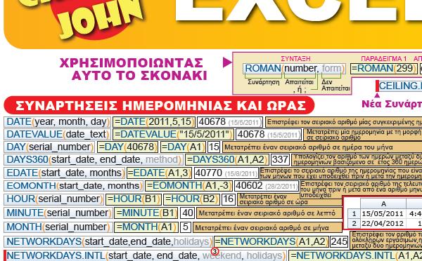 ΟΛΕΣ ΟΙ ΣΥΝΑΡΤΗΣΕΙΣ ΤΟΥ EXCEL 2010 λεπτομέρεια - Excel 2010 Functions 1 Greek Detail