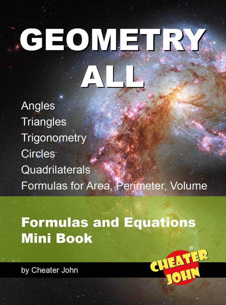 Geometry All - Cheat Sheet - Mini Book